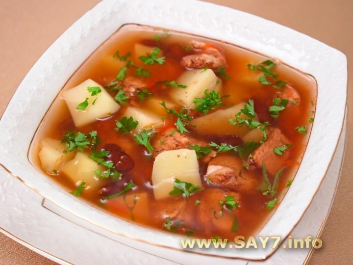 Рецепт Суп с индейкой и фасолью