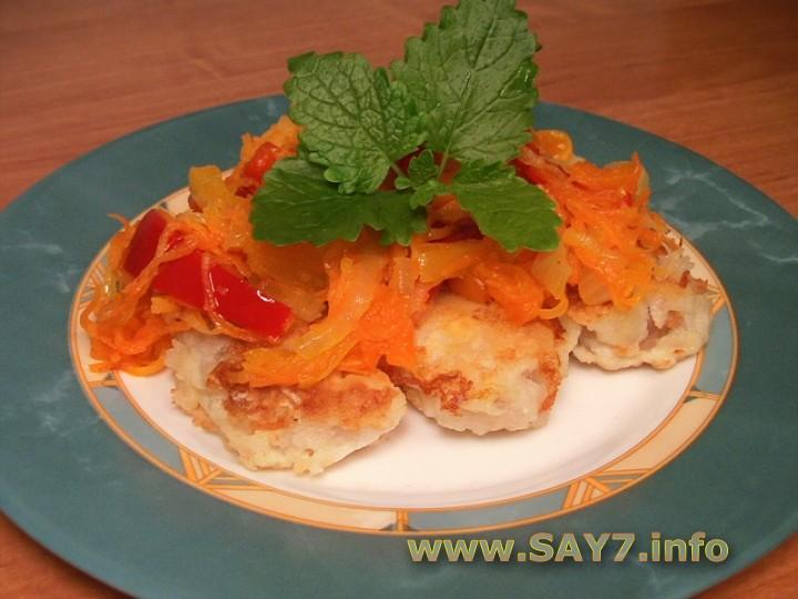 Рецепт Жареная рыба с овощами