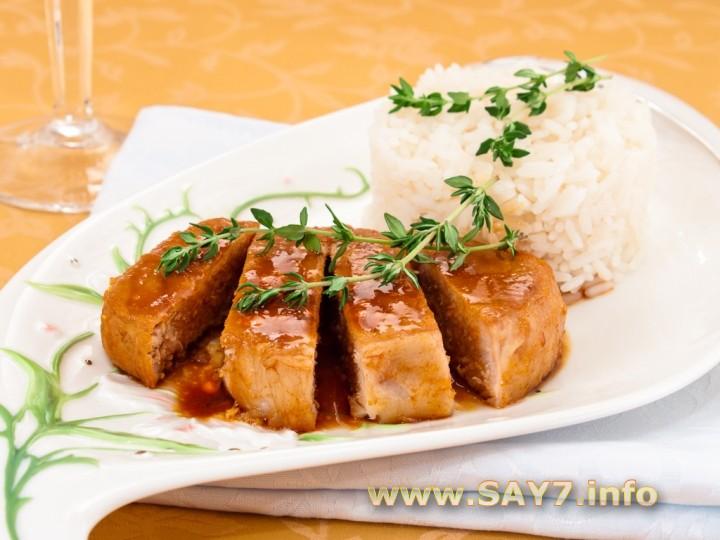 Рецепт Свинина, маринованная в соевом соусе и лимонном соке