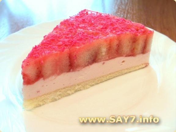 Торт бисквитно-желейный