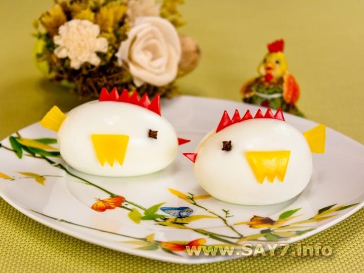 Рецепт Фаршированные яйца «Цыплята»