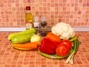 Овощное рагу. Ингредиенты
