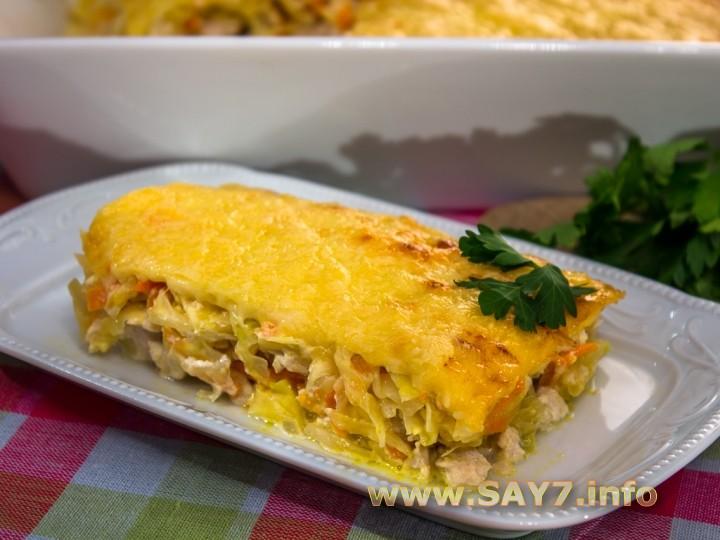 Рецепт Запеканка с капустой и фаршем