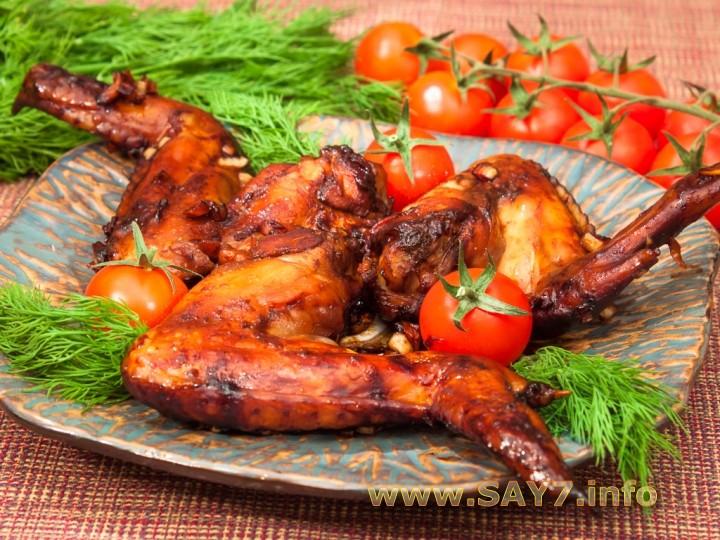 Рецепт Крылышки, маринованные в соевом соусе и кетчупе