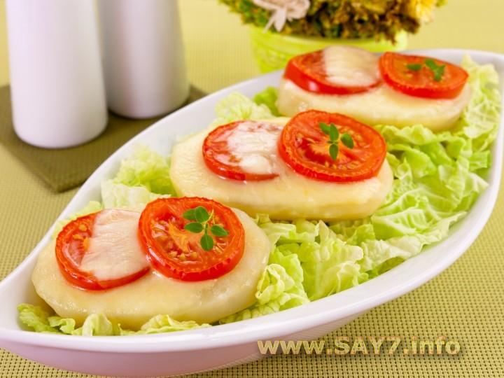 Рецепт Картофель, запеченный с помидорами и сыром