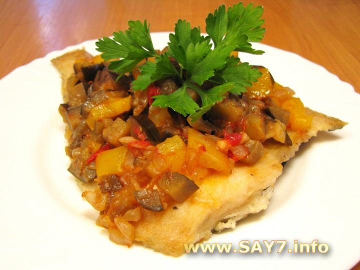 Рецепт Камбала под овощами