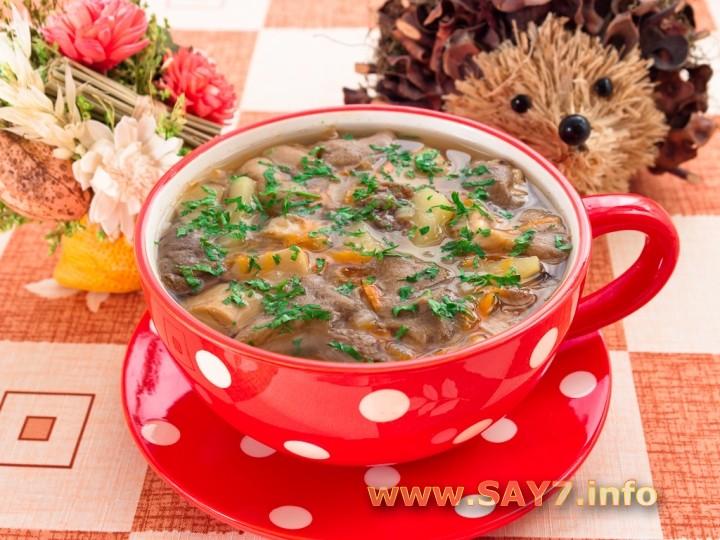 Рецепт супа с свежими белыми грибами