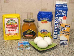 Пирожное Пасхальное яйцо. Ингредиенты