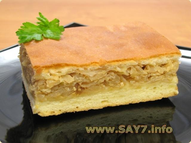 Пирог из дрожжевого теста с капустой рецепты с