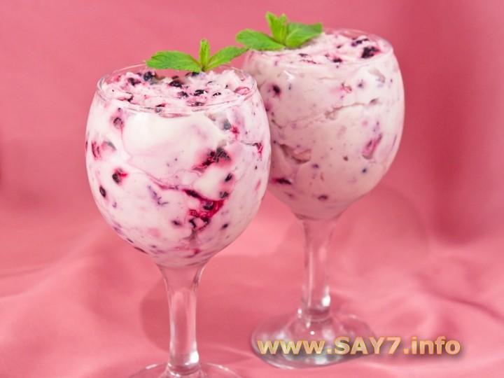 Рецепт Десерт с маскарпоне и черникой