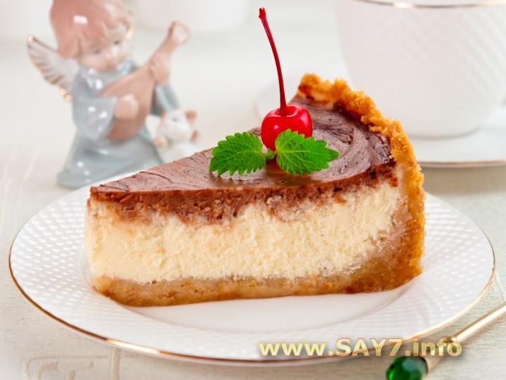 Рецепт Чизкейк ванильно-шоколадный