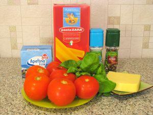 Каннеллони, фаршированные фетой и помидорами. Ингредиенты