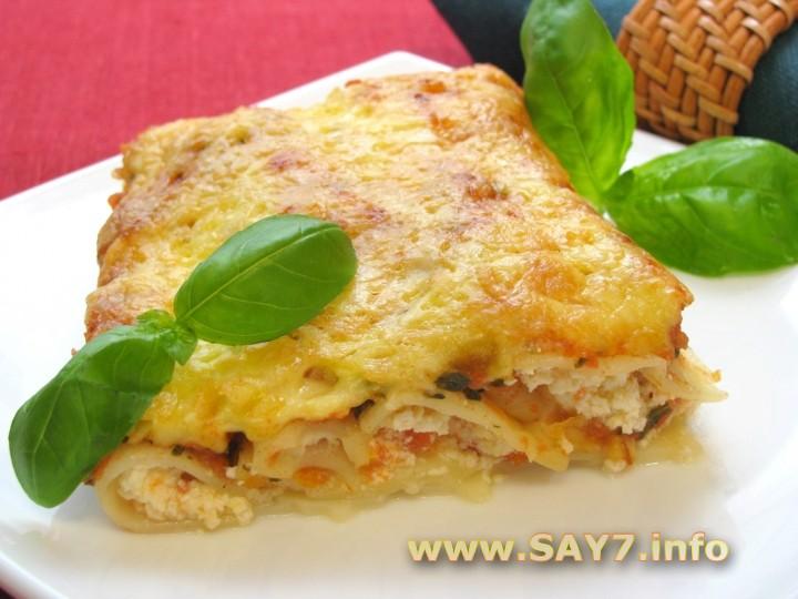 Рецепт Каннеллони, фаршированные фетой и помидорами