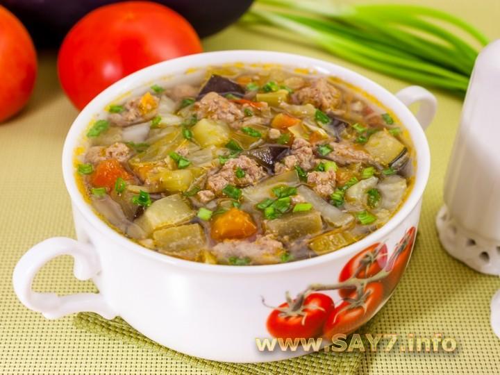 Рецепт Овощной суп с фаршем