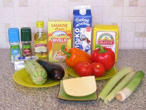 Лазанья овощная. Ингредиенты