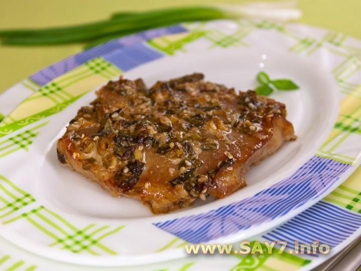 Рецепт Свинина, маринованная в соевом соусе и зеленом луке