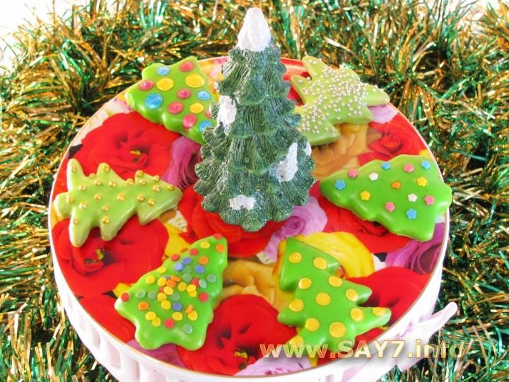 Рецепт Печенье «Новогодние Елочки»