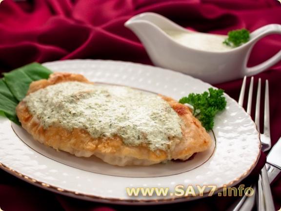 Рыба с щавелевым соусом