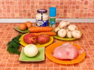 Салат Морковка. Ингредиенты
