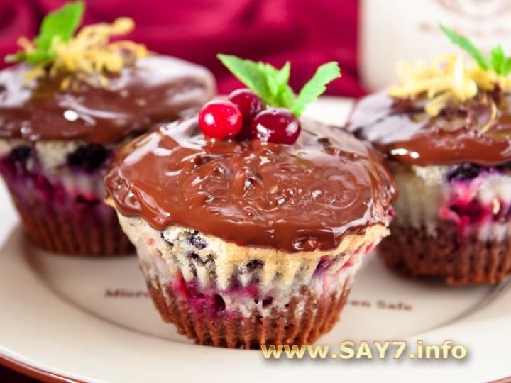 Рецепт Маффины с маскарпоне и ягодами