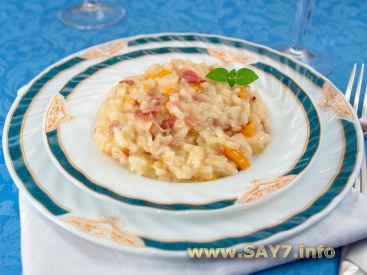 Рецепт Ризотто с беконом и болгарским перцем