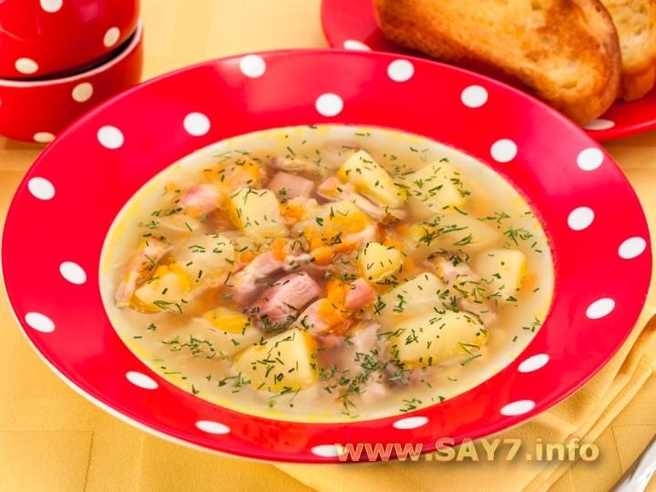 Рецепт Гороховый суп с копченостями