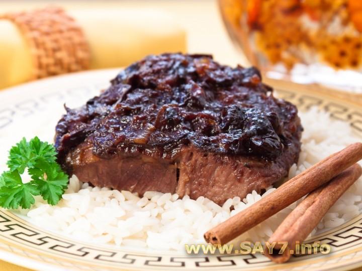 Рецепт Баранина, тушенная с черносливом и корицей