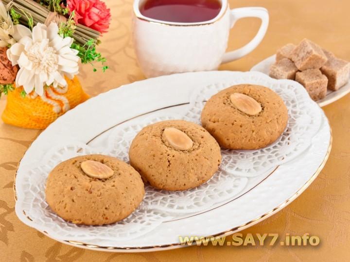 Рецепт Печенье с миндалем, корицей и имбирем