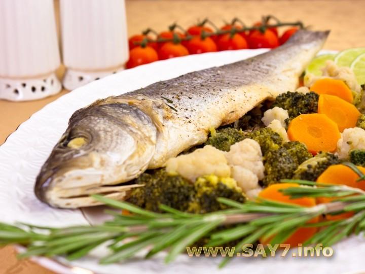 Рецепт Сибас на парУ с овощами