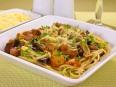 Спагетти<br /> с баклажанами, белыми грибами и грудинкой