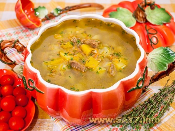 Рецепт Суп с тыквой «Краски осени»