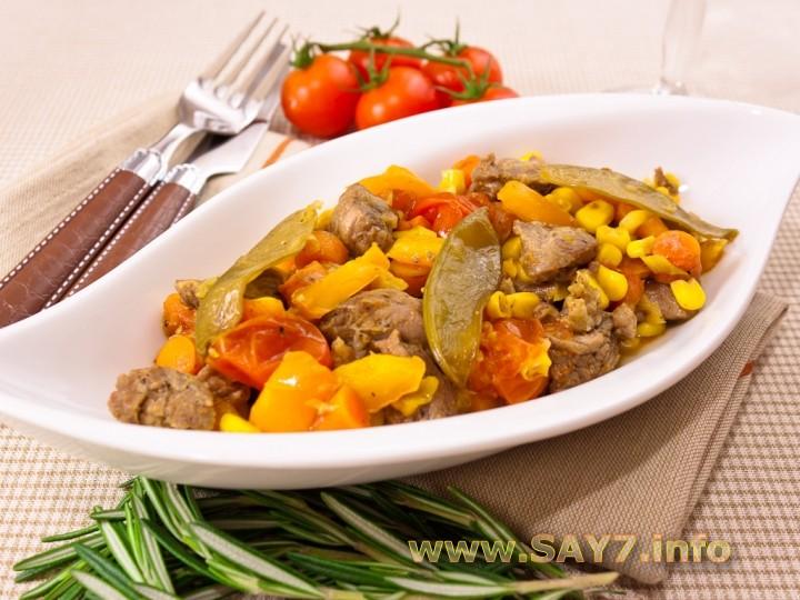 Рецепт Говядина, запеченная с овощами