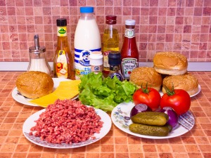 Гамбургер. Ингредиенты