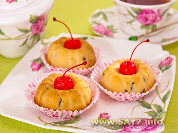Рецепт Кексы с ряженкой