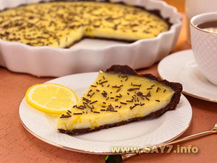 Рецепт Шоколадный торт с лимонным кремом
