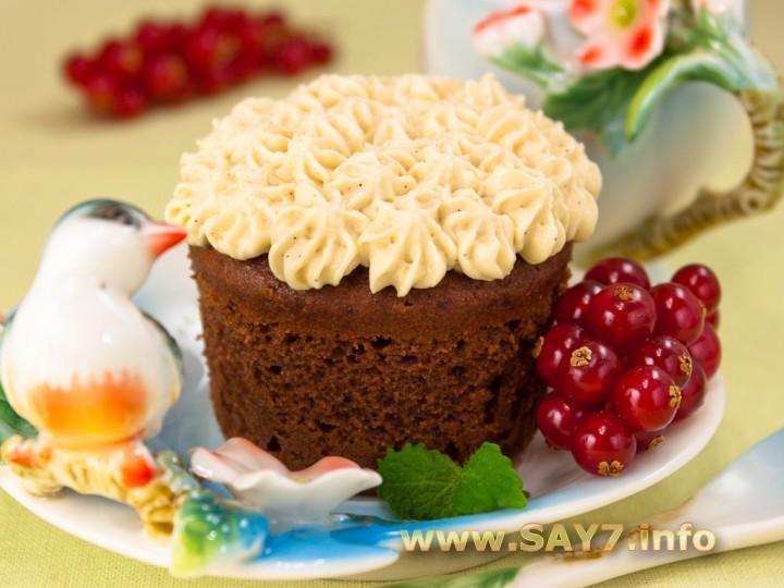 Рецепт Шоколадные кексы с карамельным кремом