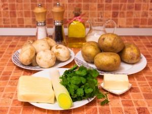 Картофельные гнезда с грибами рецепт с фото пошагово