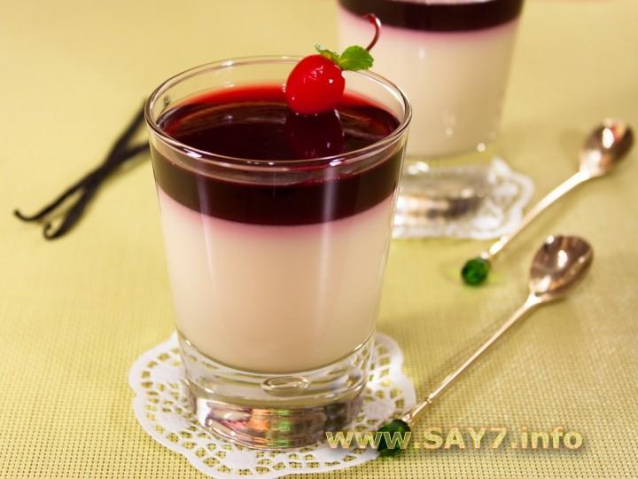 Рецепт Панна котта с вишневым желе