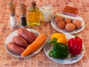 Салат Пасхальное яйцо. Ингредиенты