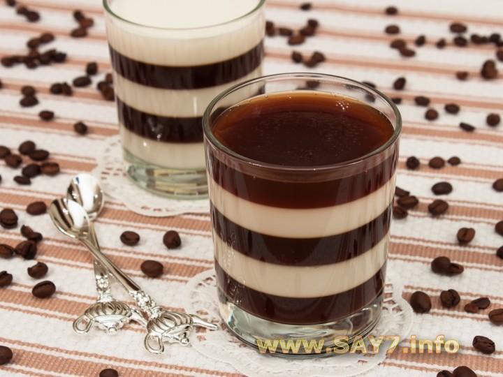 Рецепт Желе «Кофе с молоком»