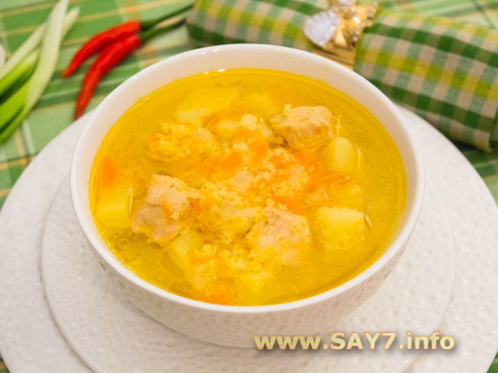 Рецепт Суп с индейкой и пшеном