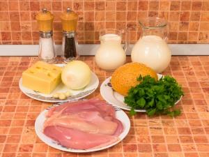 Куриные тефтели в сливочном соусе. Ингредиенты