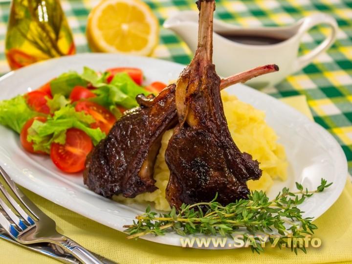 Рецепт Маринованные бараньи ребрышки, жаренные на гриле