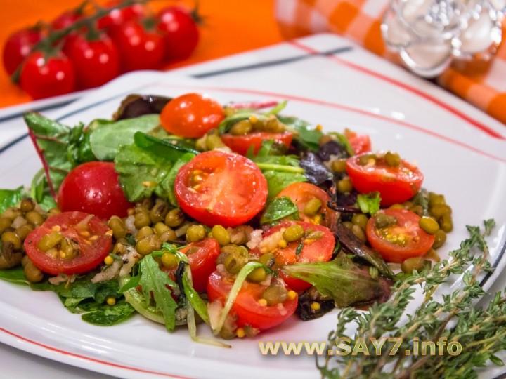 Рецепт Салат с машем, черри и тимьяном