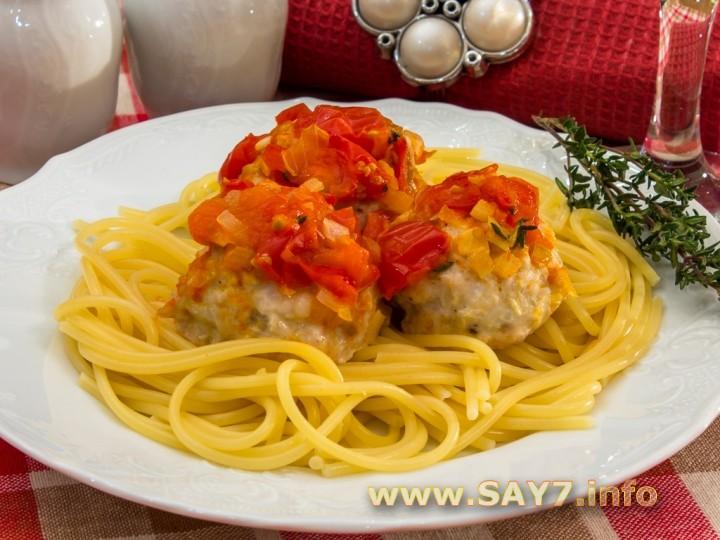 Рецепт Тефтели с моцареллой в томатном соусе