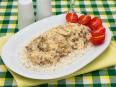 Свинина с грибами в сливочно-сырном соусе