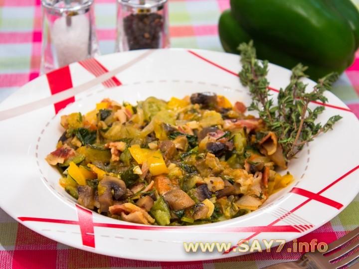Рецепт Рагу с овощами и грибами
