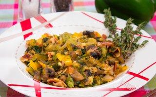 Рагу с овощами и грибами