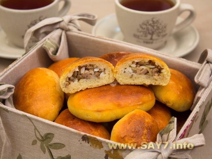 Рецепт Пирожки с фаршем и рисом