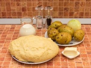 Пирожки с картофелем. Ингредиенты